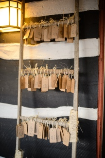 tobacco stick ladder rental with place cards!